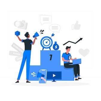 Illustrazione del concetto di marketing