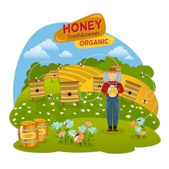 Illustrazione del concetto di miele