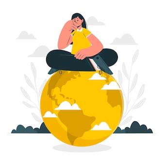 Illustrazione del concetto di mondo