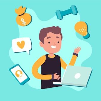 Illustrazione del concetto di multitasking