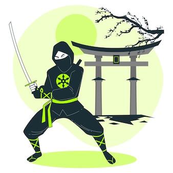 Illustrazione del concetto di ninja