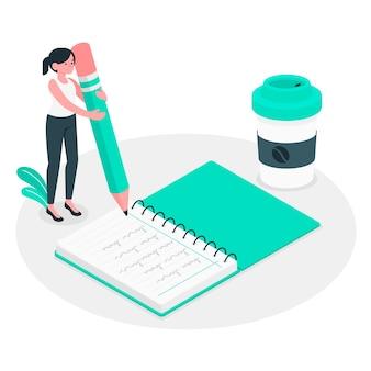 Illustrazione del concetto di notebook