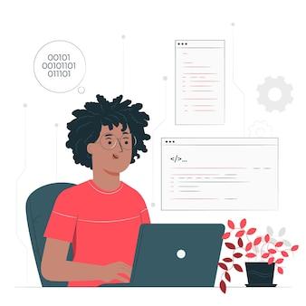 Illustrazione del concetto di programmatore