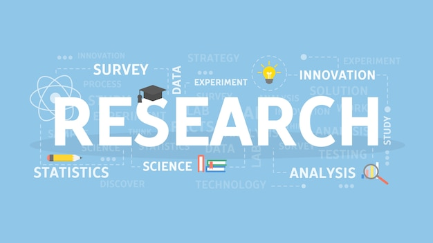 Illustrazione del concetto di ricerca.