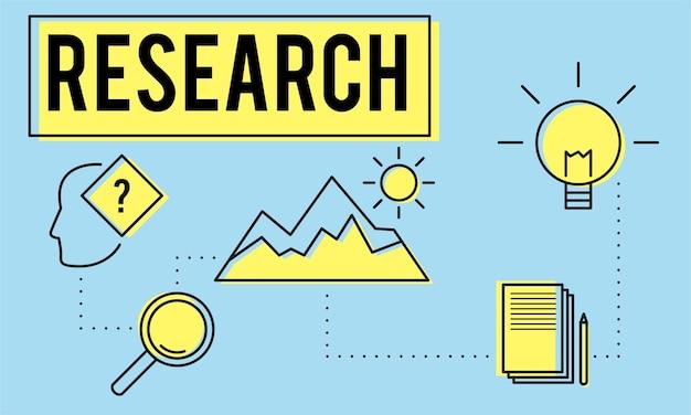 Illustrazione del concetto di ricerca