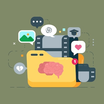 Illustrazione del concetto di ricordi personali