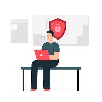 Illustrazione del concetto di sicurezza