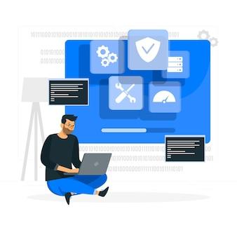 Illustrazione del concetto di sistema operativo