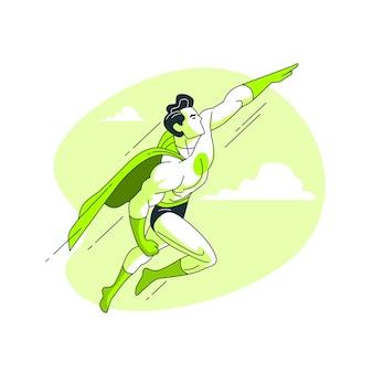 Illustrazione del concetto di supereroe