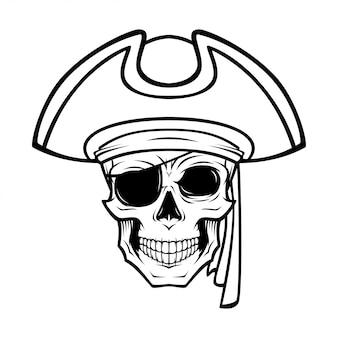 Illustrazione del cranio del pirata