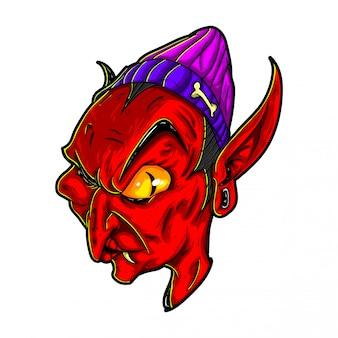 Illustrazione del delinquente del demone