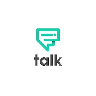 Illustrazione del design del logo dei social media con un tocco di design del logo in stile semplice e moderno