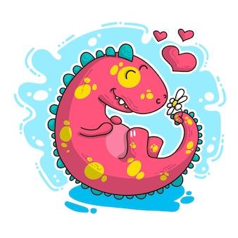 Illustrazione del dinosauro in amore