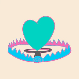 Illustrazione del disegno a mano del concetto di amore