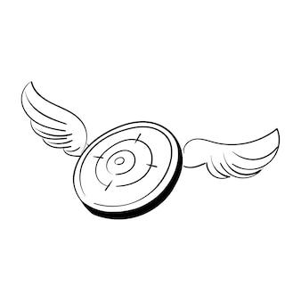 Illustrazione del disegno della mano del concetto dell'obiettivo di obiettivi