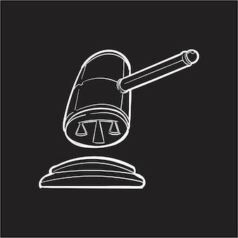 Illustrazione del disegno della mano del concetto della giustizia