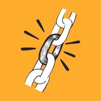 Illustrazione del disegno della mano del concetto di forza di potenza