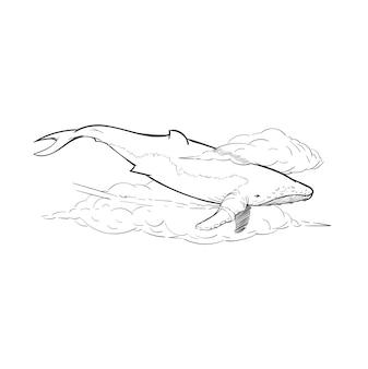 Illustrazione del disegno della mano del concetto di libertà