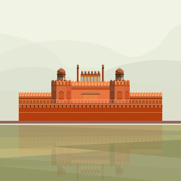 Illustrazione del forte rosso