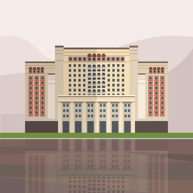 Illustrazione del four seasons hotel di mosca