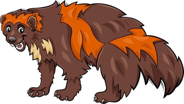 Illustrazione del fumetto animale di wolverine