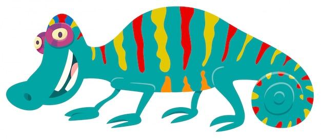 Illustrazione del fumetto del carattere animale del camaleonte