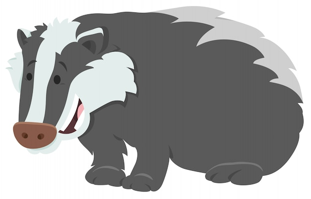 Illustrazione del fumetto del carattere animale del tasso