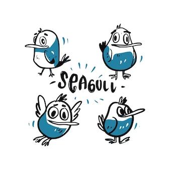 Illustrazione del fumetto del gabbiano.