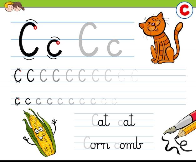 Illustrazione del fumetto del libro di esercizi di abilità di scrittura