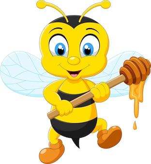 Illustrazione del fumetto dell'ape che tiene miele
