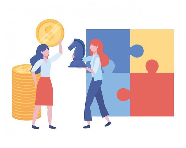 Illustrazione del fumetto dell'avatar delle donne di affari