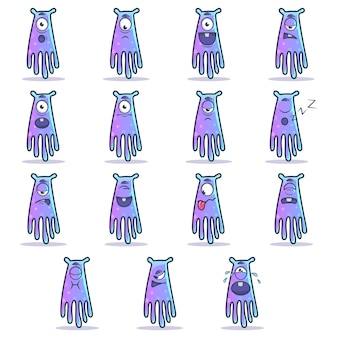Illustrazione del fumetto dell'insieme del mostro.