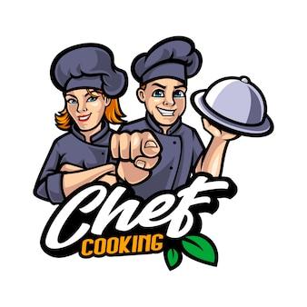 Illustrazione del fumetto della mascotte del cuoco unico