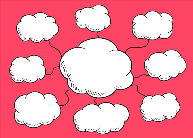 Illustrazione del fumetto della nuvola