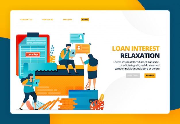 Illustrazione del fumetto di avvertimento delle rate della carta di credito. pagamento tardivo delle banche per prestiti e debiti. multe e sanzioni da parte delle banche