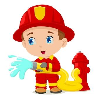 Illustrazione del fumetto di un pompiere