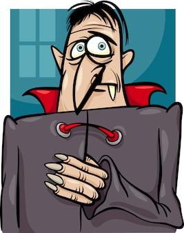 Illustrazione del fumetto di vampiro di halloween