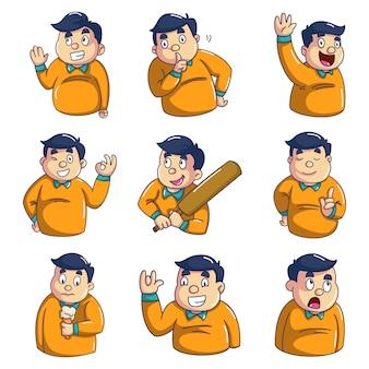 Illustrazione del fumetto di vettore del ragazzo
