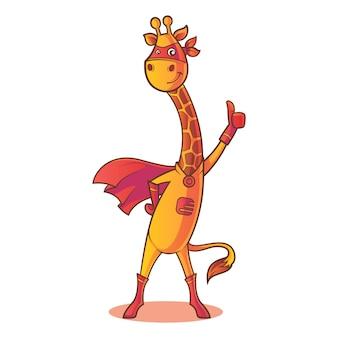 Illustrazione del fumetto di vettore della giraffa.