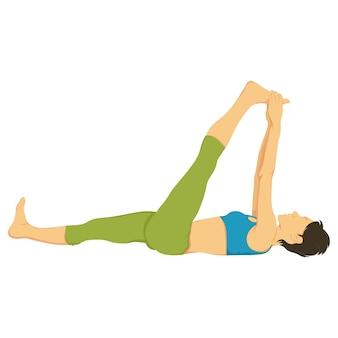 Illustrazione del fumetto di vettore della posa di yoga