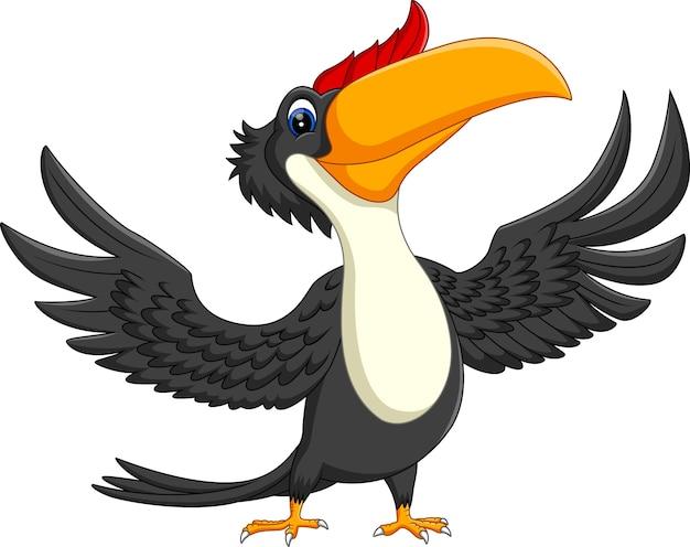 Illustrazione del fumetto felice uccello tucano
