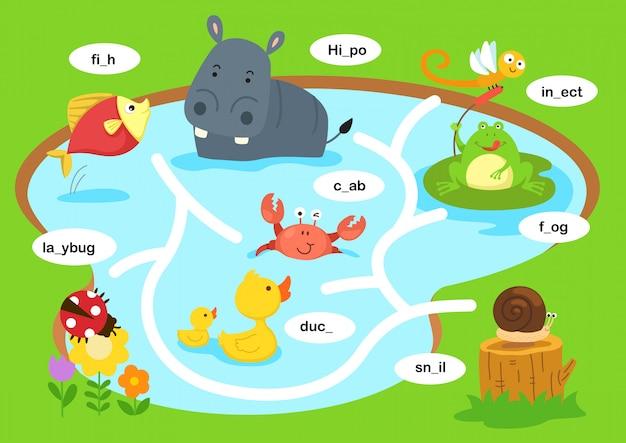 Illustrazione del gioco del labirinto di educazione