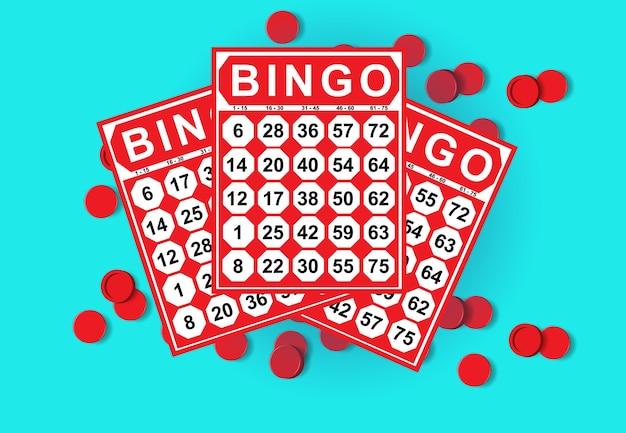 Illustrazione del gioco di carte di bingo