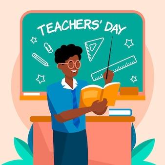 Illustrazione del giorno degli insegnanti piatto