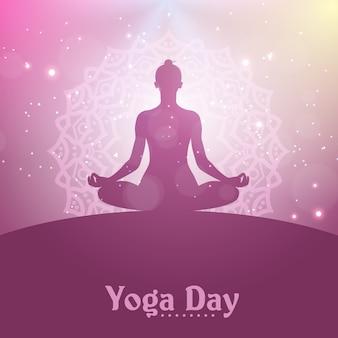 Illustrazione del giorno di yoga