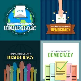 Illustrazione del giorno internazionale della democrazia