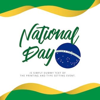 Illustrazione del giorno nazionale del brasile