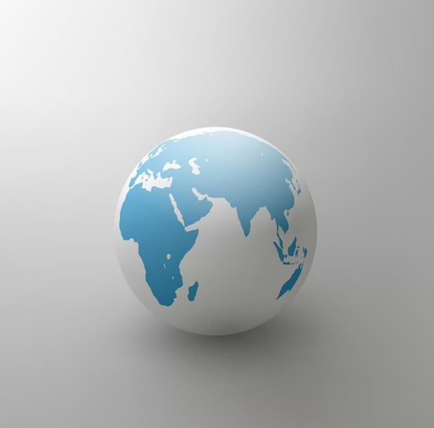 Illustrazione del globo grigio isolato