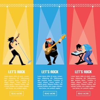 Illustrazione del gruppo di musica della banda rock
