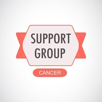 Illustrazione del gruppo di supporto per il cancro